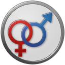 Sex Male Female Circled icon