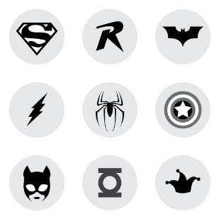 Superheroes Set icon sets preview