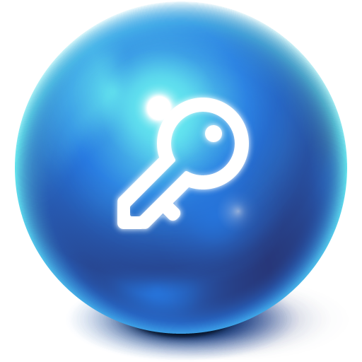 bright, ball, log off icon