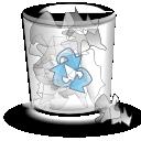 alt, full, trashcan icon