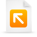 orange, paper, document, file icon