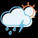 thunderstorm, day, ranny icon