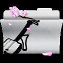 Folder, Music, White icon