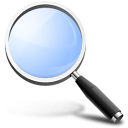 find, search, magnifying glass, zoom, glossy icon