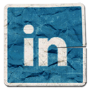 linkedin, linked in icon