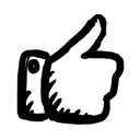thumb up, up, thumb icon
