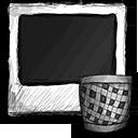 trash, photo icon