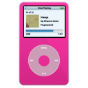 ipod, pink, video icon
