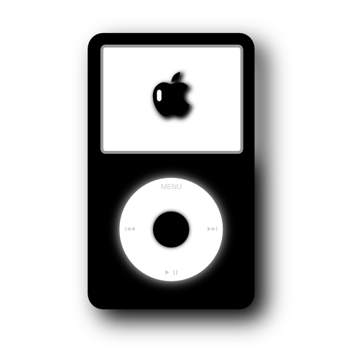 video, black, ipod icon