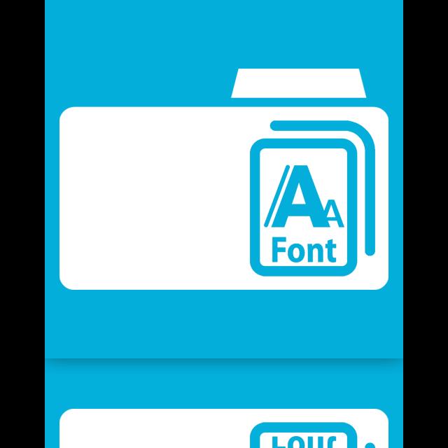 mirror, fonts icon