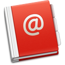 address, soda, red, book icon