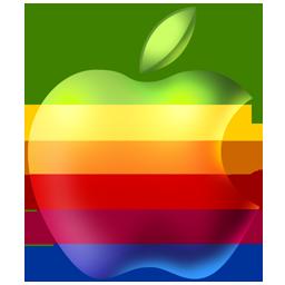 rainbow, apple icon