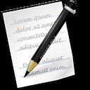 Crayon, Kwrite, Morena, Oxygen, Paper, Pencil, Sugestion, Team, Writer icon