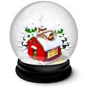 Christmas house icon