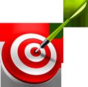 bullseye, target, dart icon
