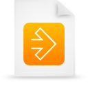 orange, document, file, paper icon