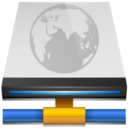 network,drive,connected icon