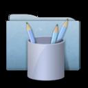 Folder Blue Work icon