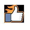 superlike, like, fire, awesome icon