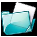 folder, cyan icon