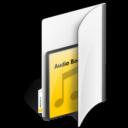 folder,audio,book icon