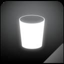trashcan,empty,glow icon