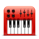 soda, midi, red, audio icon