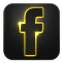 Facebook, Glow, Neon icon