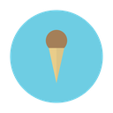 cone, ice, cream, chocolate, dessert icon