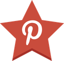 pinterest, star, favorite, pin icon