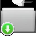 folder,drop,graphite icon