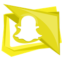snap, snapchat, social, mobile, technology icon