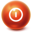 bright,ball,shutdown icon
