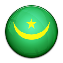 country, mauritania, flag icon
