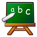 learn, school, chalkboard, package, abc, edutainment icon