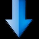 Fleche bas bleue icon
