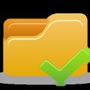 folder, accept icon