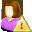 user, female, error icon