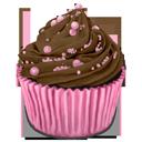 cupcake, choco, cocos icon