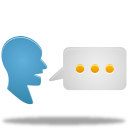 speak, chat, talk, translate icon