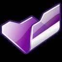 folder,violet,open icon