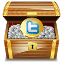 chest, twitter, gold icon