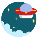 ufo, out of space, martian, space, alien icon