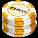Casino, Chips, Yellow icon