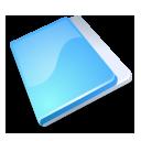 folder close blue icon