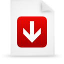 document, paper, red, file icon