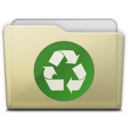 beige folder recycle icon