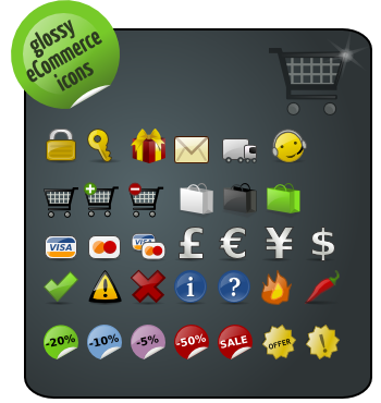 pack, ecommerce, glossy icon