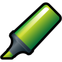 highlighter,green icon
