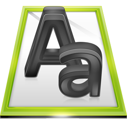 paper, font, file, document icon